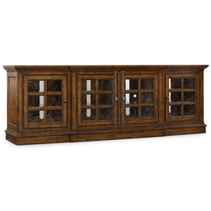 Brantley Large Entertainment Console | Hooker Furniture