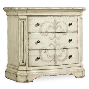 Auberose Three-Drawer Nightstand | Hooker Furniture