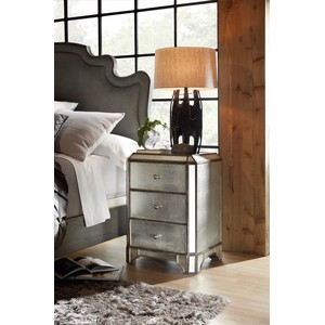 Arabella Mirrored Three-Drawer Nightstand | Hooker Furniture