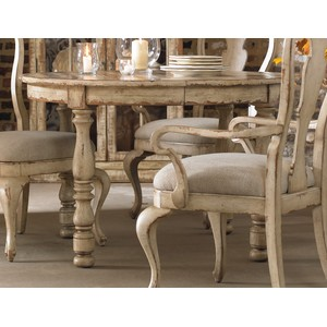Wakefield Round Leg Dining Table w/1-21'' leaf | Hooker Furniture