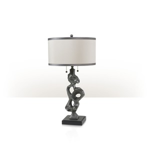 Pewter Sculpture Table Lamp | Theodore Alexander
