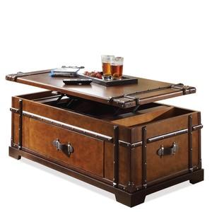 Latitudes Steamer Trunk Lift Top Coffee Table | Riverside