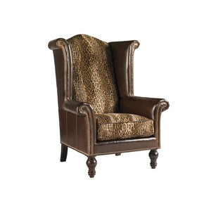 Kings Row Leather Wing Chair   Lexington