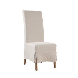Linen Slipcovered Parsons Chair   Furniture Classics