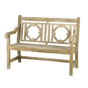 Small Leagrave Bench | Currey & Company