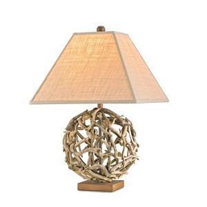 Driftwood Sphere Table Lamp | Currey & Company