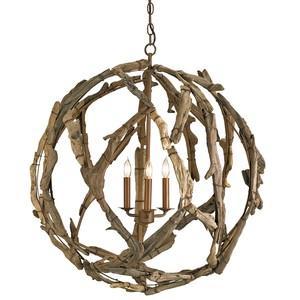 Driftwood Orb Chandelier | Currey & Company
