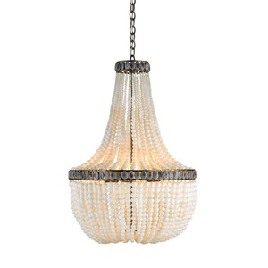 Cream Hedy Chandelier | Currey & Company