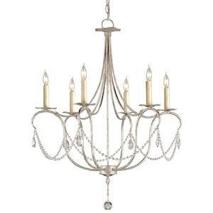 Crystal Lights Chandelier, SL | Currey & Company