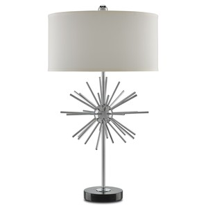 Trendsetter Table Lamp in Chrome | Currey & Company