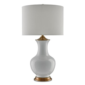Lilou Table Lamp in White | Currey & Company
