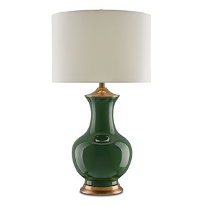 Lilou Table Lamp in Green   Currey & Company