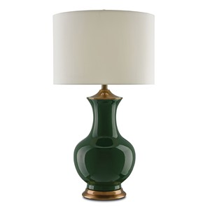 Lilou Table Lamp in Green | Currey & Company