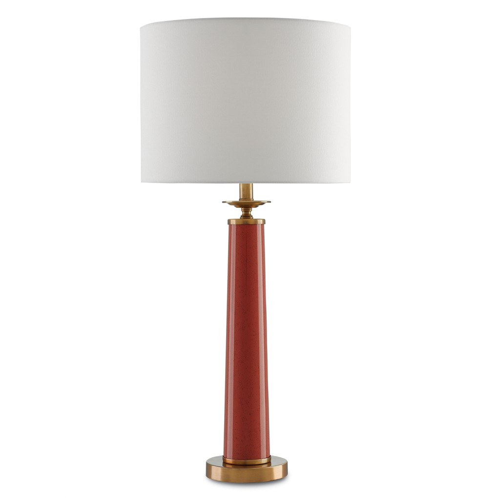 Rhyme Table Lamp, Red | Currey & Company