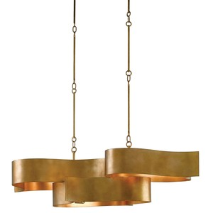 Grand Lotus Oval Chandelier | Currey & Company