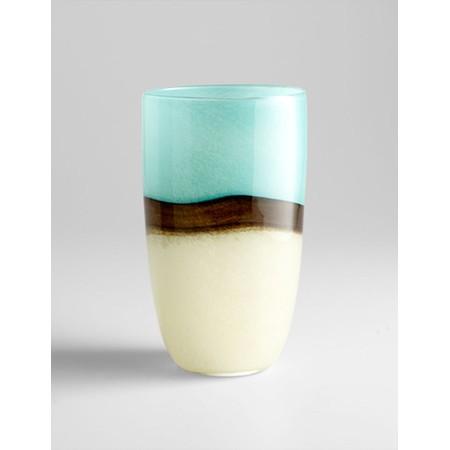 large turquoise earth vase