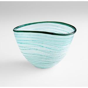 Small Swirly Bowl   Cyan Design