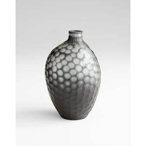 Medium Neo-Noir Vase | Cyan Design