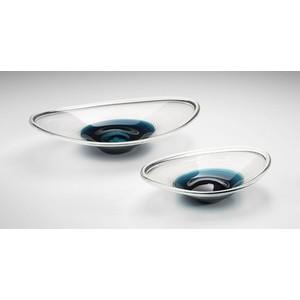 Large Cobalt Oval Bowl