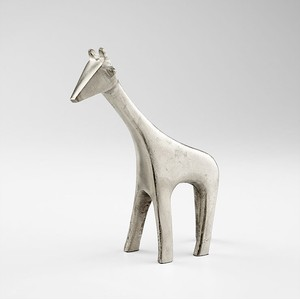 Small Nickel Neck Sculpture   Cyan Design