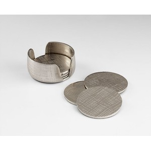Nickel Coasters | Cyan Design