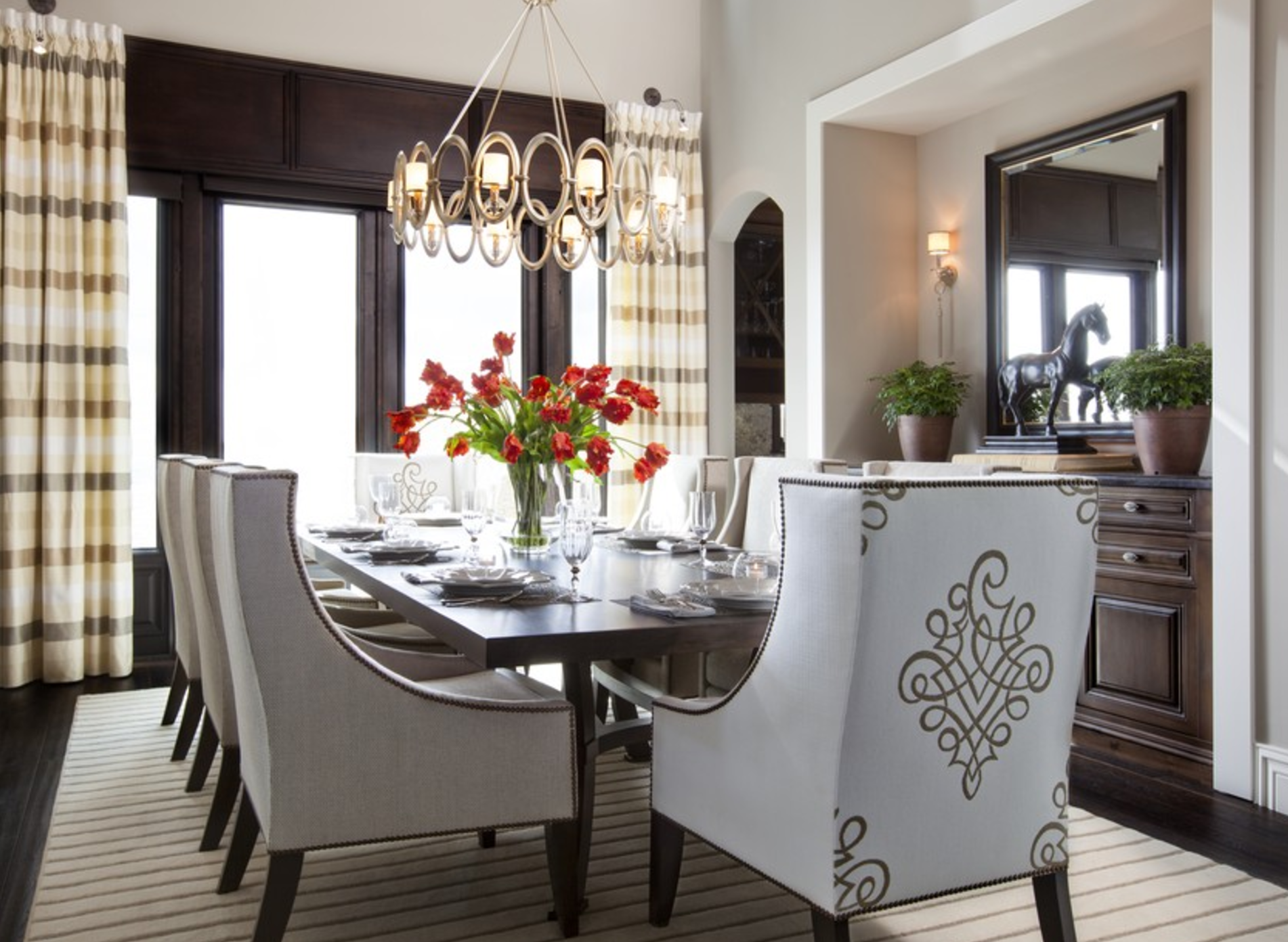 Beau A Transitional Dining Room By Rebecca Robeson.